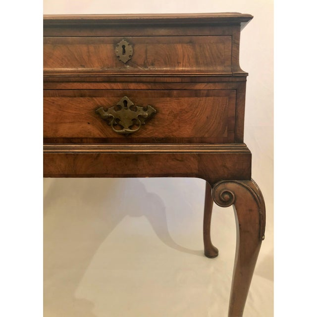 Antique English Walnut Lowboy Chest, Circa 1890-1910. For Sale - Image 4 of 5