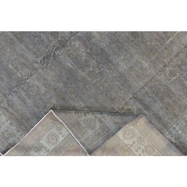 Contemporary Contemporary Grey Overdyed Wool Room-Size Rug For Sale - Image 3 of 12