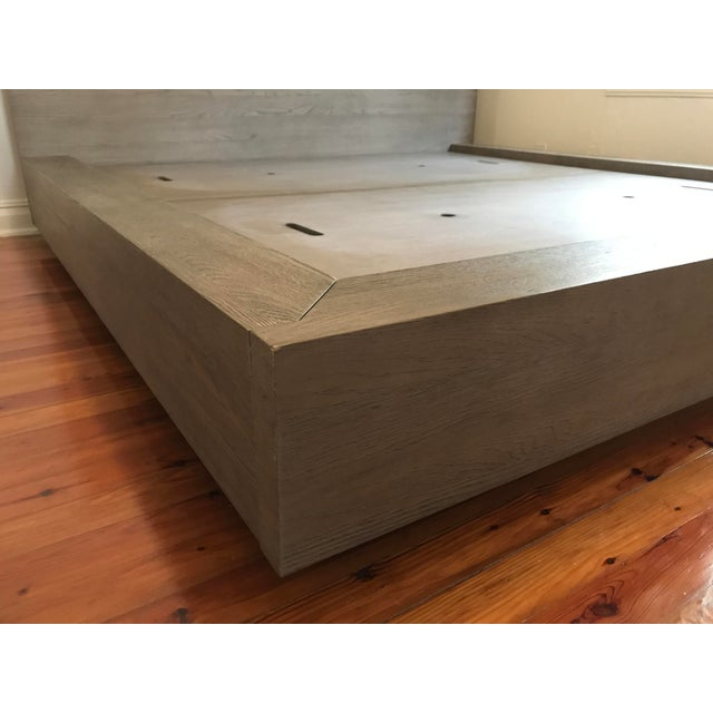 Van Thiels for Restoration Hardware Oak King Machinto Bed For Sale In Dallas - Image 6 of 11