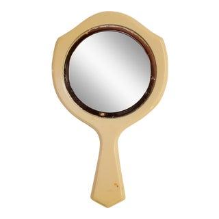 Little Mid-Century Pearlescent Bakelite Handheld Mirror