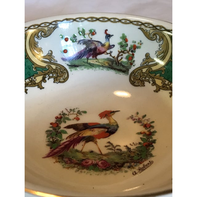 1930s 1930s Staffordshire Myott & Son Chelsea Bird Dish in Green For Sale - Image 5 of 6