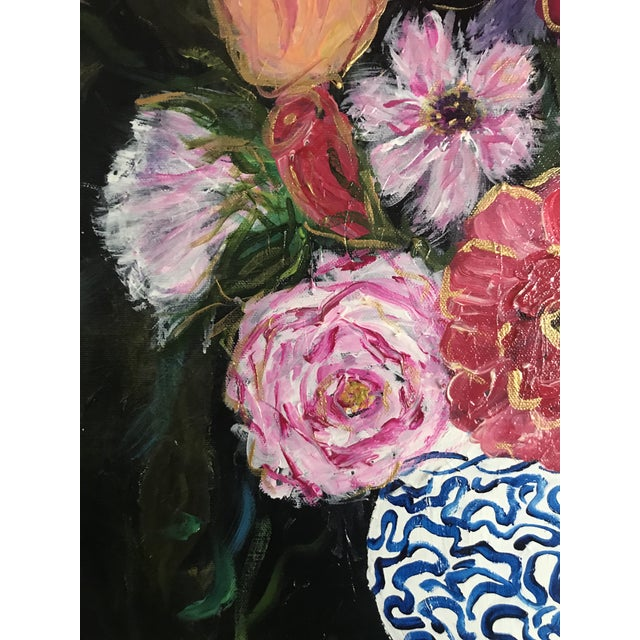 This painting was inspired beautiful spring and my love of blue and white vases. There were these huge bouquet of flowers...