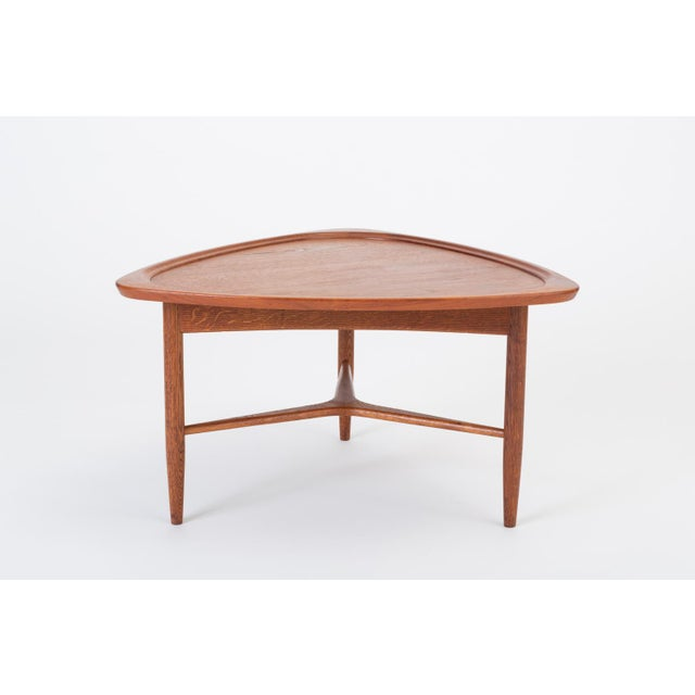 "Scandinavian Modern Teak ""Guitar Pick"" Side Table For Sale - Image 13 of 13"