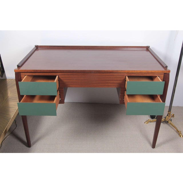 Italian 1950s Italian Desk attributed to Gio Ponti For Sale - Image 3 of 9