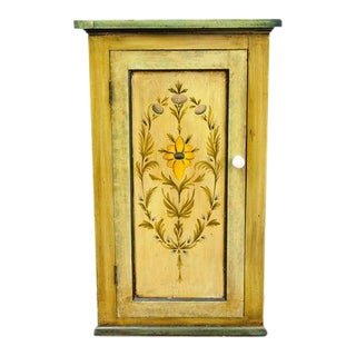 Late 19th Century Antique Painted Cupboard For Sale