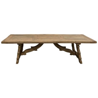 Large White Oak Dining Table For Sale