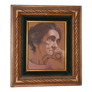 Vasileos Kapousouz (Greek, B.1912-1985) Portrait of Woman Oil Painting C.1971 For Sale
