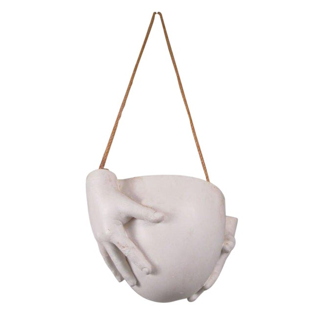 "1970s Ceramic ""Hands"" Hanging Bowl by Richard Etts For Sale"