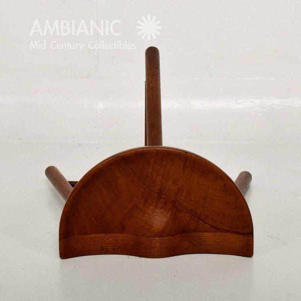 Brown Mid-Century Danish Modern Solid Teak Stool For Sale - Image 8 of 10