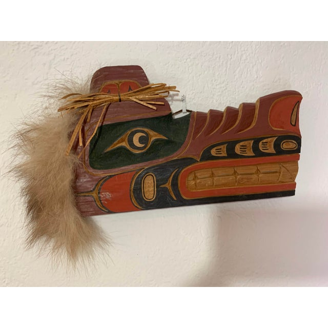 Cecil Dawson Native Northwest Grizzly Bear Painted Wood Carving, Signed For Sale In Denver - Image 6 of 13