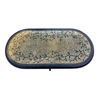 Vintage Mosaic Tile Coffee Table For Sale