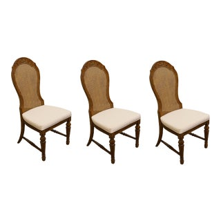Universal Furniture Country French Cane Back Side Chairs - Set of 3 For Sale