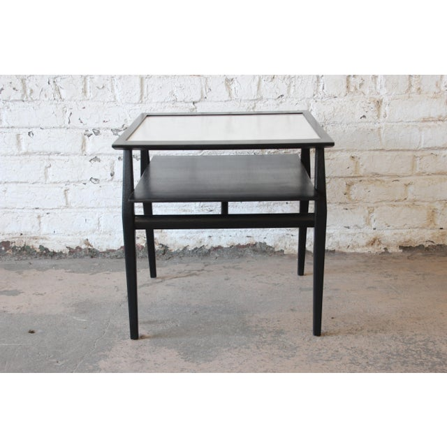 Bertha Schaefer for Singer & Sons Ebonized Mid-Century Modern End Tables- A Pair For Sale - Image 11 of 13