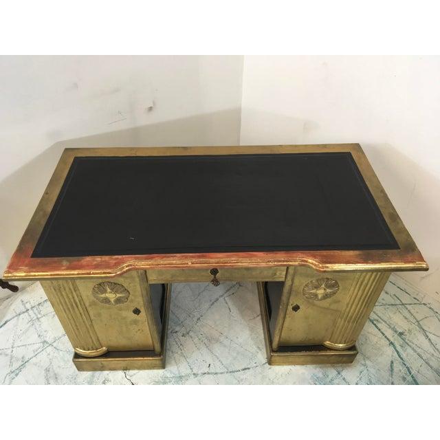 French Neo-Classical Style Gold Leaf Desk - Image 9 of 10