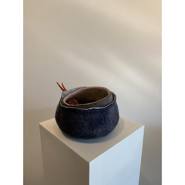 Abstract Wool Felt Sculpture For Sale - Image 11 of 13
