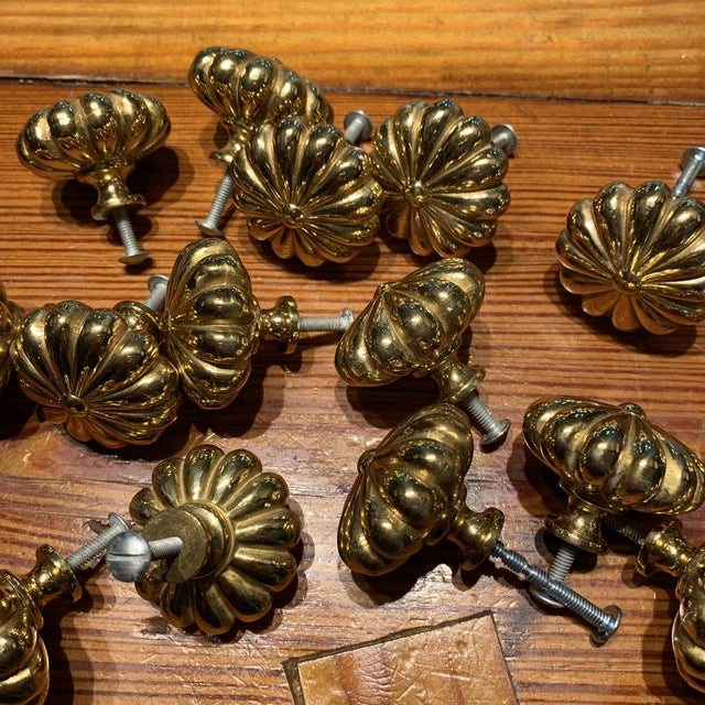 Metal Sherle Wagner Brass Cabinet Hardware For Sale - Image 7 of 8