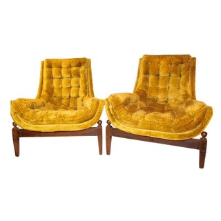Adrian Pearsall Lounge Chairs and Ottoman