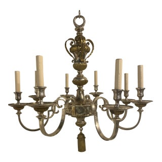 A Caldwell Silver Plated /Bronze Chandelier For Sale