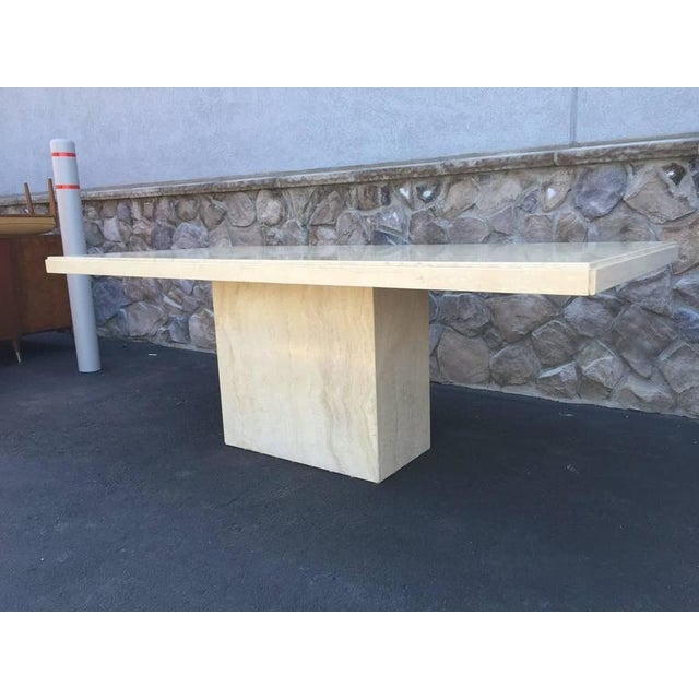Large Italian Travertine Dining Table - Image 4 of 6
