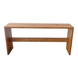 Organic Modern Oak Bench by Mike Feagan For Sale