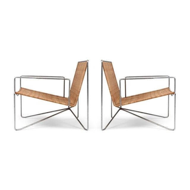 Rattan & Steel Armchairs by Gelderland - 1964 For Sale - Image 13 of 13