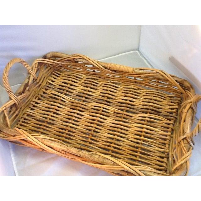Vintage Decorative Rattan Tray - Image 4 of 8