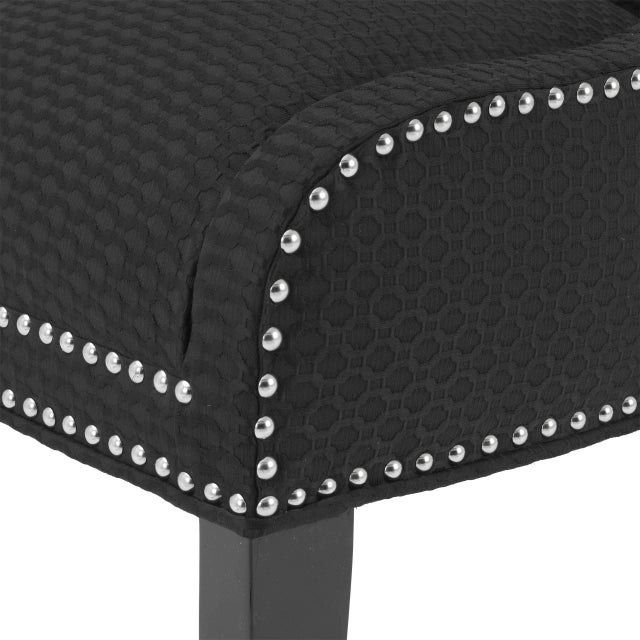 Not Yet Made - Made To Order Black Wingback Side Chair | Eichholtz Elson For Sale - Image 5 of 7