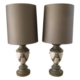 Hollywood Regency Lion Statement Lamps - a Pair For Sale