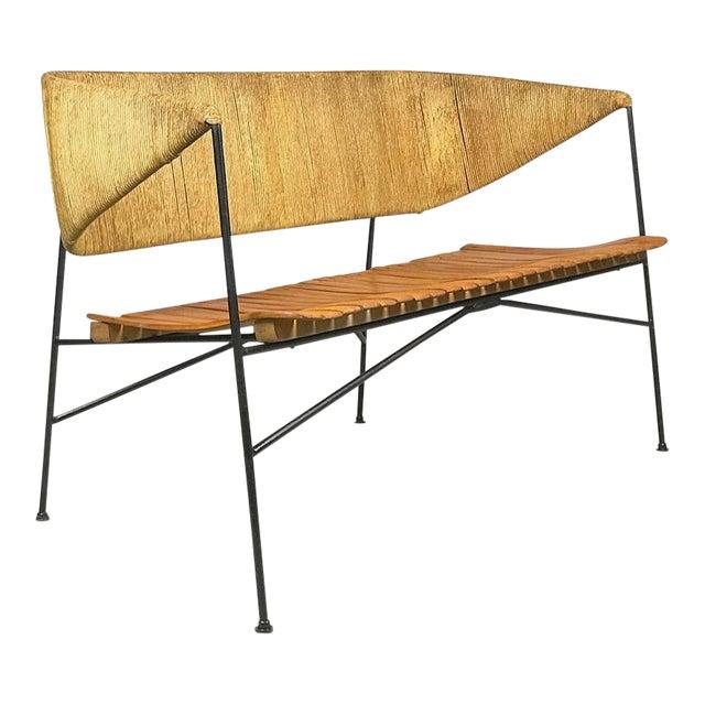 Modernist Settee by Arthur Umanoff for Shaver Howard & Raymor Loveseat Bench Sofa Couch For Sale