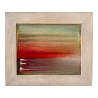 """""""Tumbes"""" Contemporary Abstract Landscape Mixed-Media Painting, Framed For Sale"""