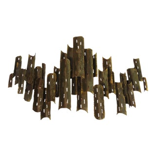 Tom Greene Brutalist 1960s Wall Sconce For Sale
