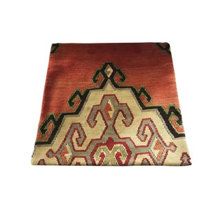 """Custom Made Old Turkish Tribal Kilim Pillow Cover 20"""" by 20"""" For Sale"""