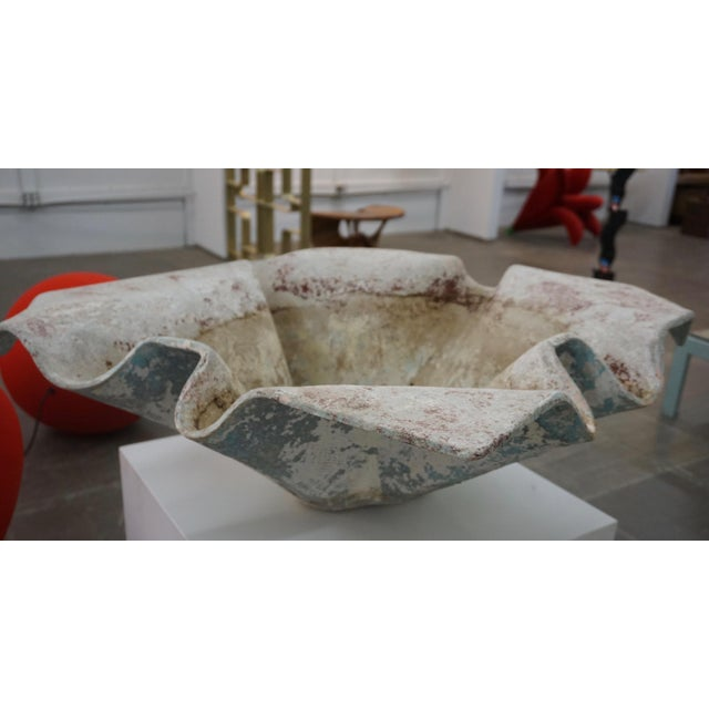 Concrete Handkerchief Garden Pot by Willy Guhl for Eternit For Sale - Image 7 of 10