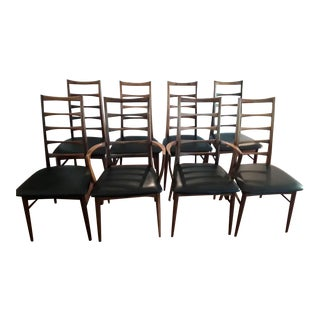 "Like New 1960s Vintage Neils Koefoed ""Lis"" Rosewood Dining Chairs- Set of 8 For Sale"