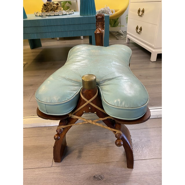 Vintage Camel Saddle Stool For Sale In New York - Image 6 of 11