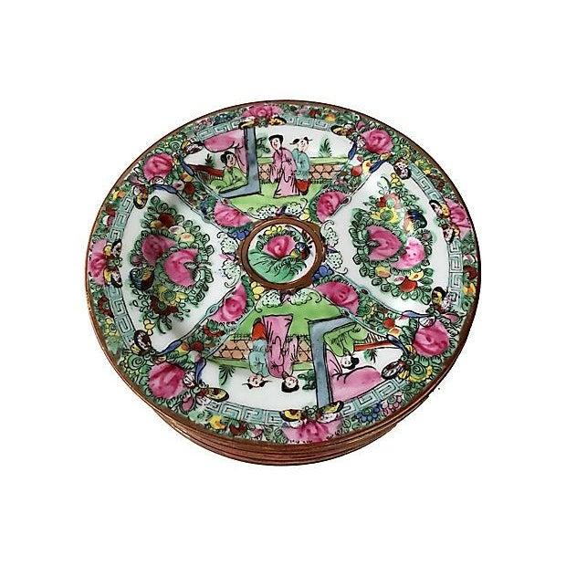 Familie Rose Dessert Plates - Set of 10 - Image 2 of 5