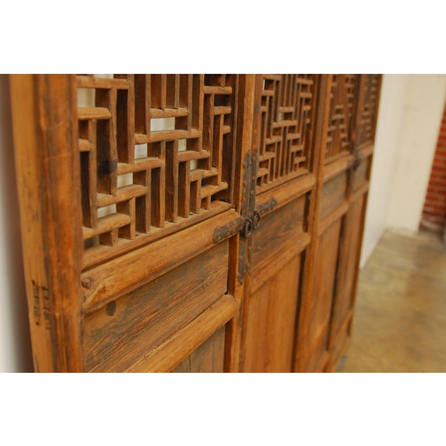 Chinese Lattice Panel Doors - Set of 4 For Sale - Image 9 of 10