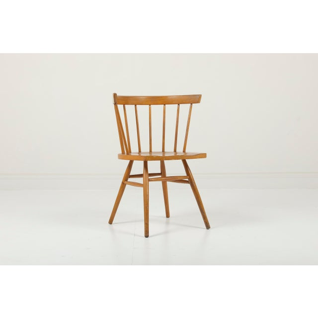 1940s Vintage George Nakashima for Knoll Straight Chair For Sale - Image 11 of 11
