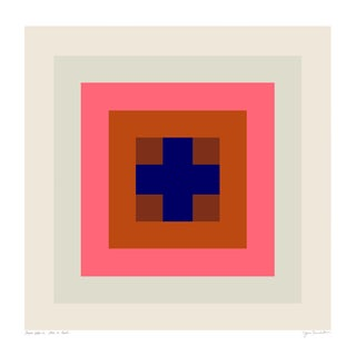 "Power Color 1: Love Is Real (Ivory to Blue) Original Pigment Print - 30x30"" For Sale"