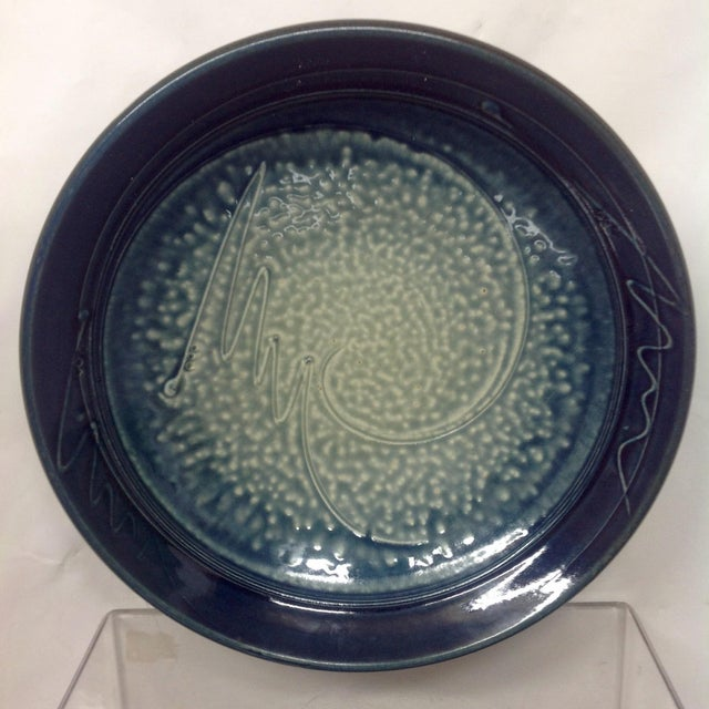 Blue & White Studio Pottery Bowl - Image 2 of 5