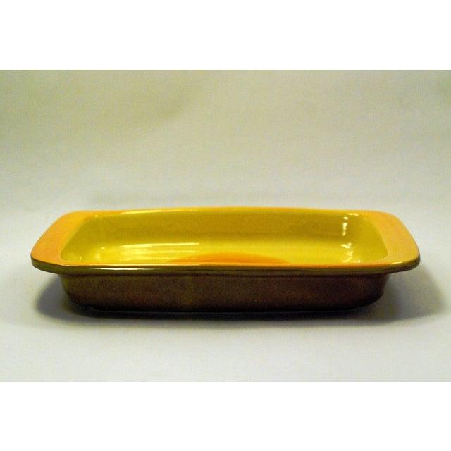 MCM Swedish Yellow/Orange Stoneware Tray - Image 6 of 6