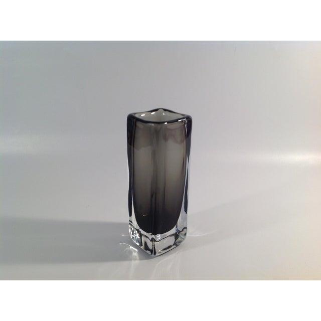 Orrefors Smoked Sommerso Glass Vase By Nils Landberg Chairish