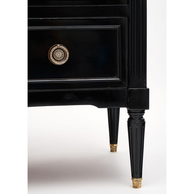 Ebonized Antique French Louis XVI Chest For Sale - Image 9 of 10