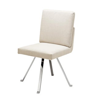 Dirand Beige Swivel Dining Chair For Sale
