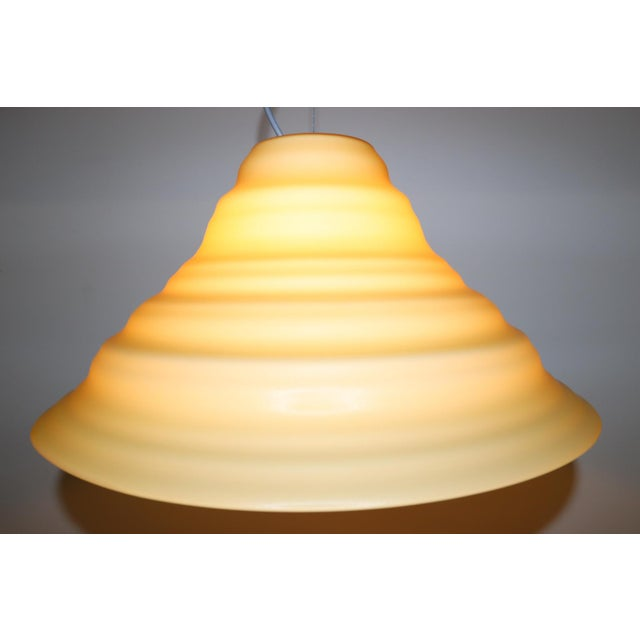 """Incamiciato"" Amber Murano Glass Mid-Century Modern Pendant Light For Sale - Image 9 of 11"