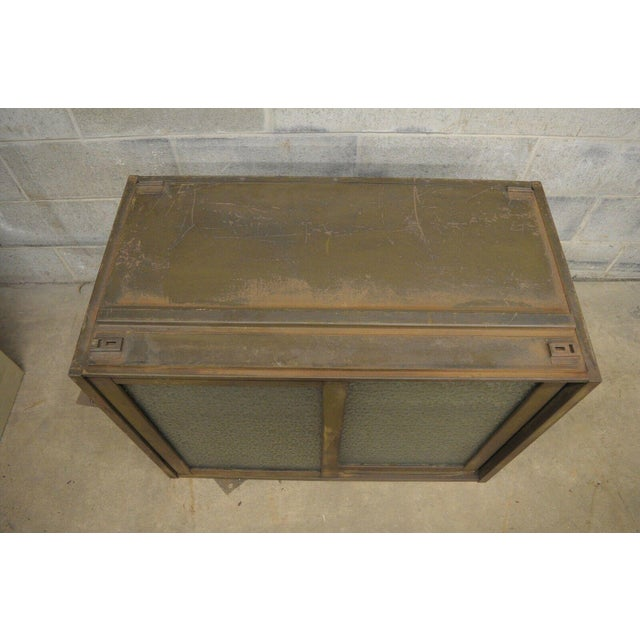 20th Century Industrial Remington Rand Green Steel Metal Stacking Barrister Storage Cabinet For Sale - Image 9 of 13