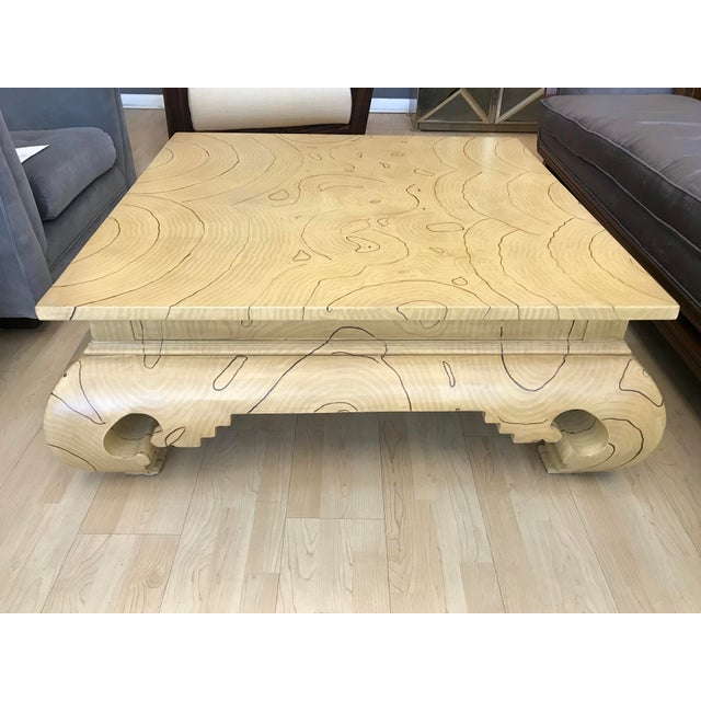 Faux Wood Grain Painted Coffee Table For Sale - Image 10 of 13