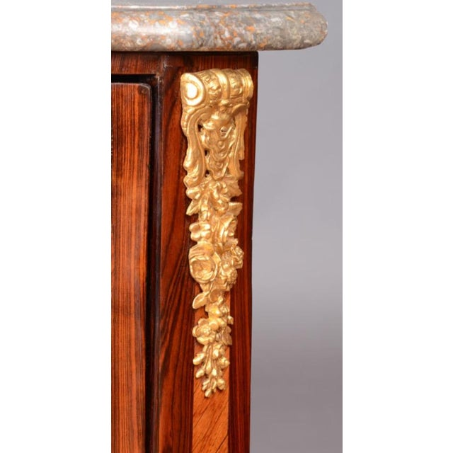 French Louis XVI Ormolu Marble Top Encoignures - A Pair For Sale - Image 3 of 9