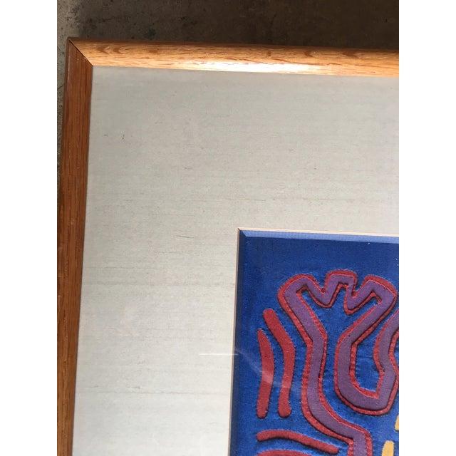 Vintage Indian Mola Framed Textile Art - Image 7 of 10