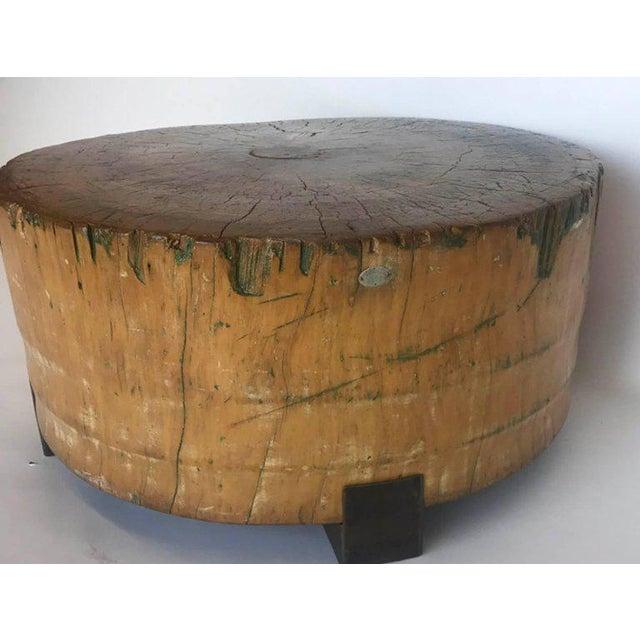 Vintage Butcher Block Table For Sale - Image 4 of 8